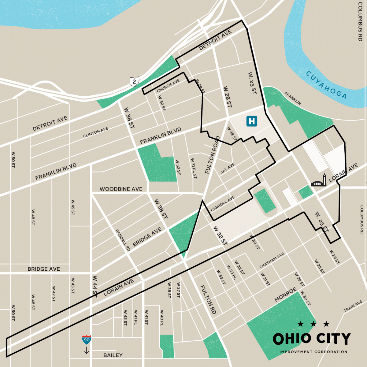 Ohio City Improvement Corporation Boundaries