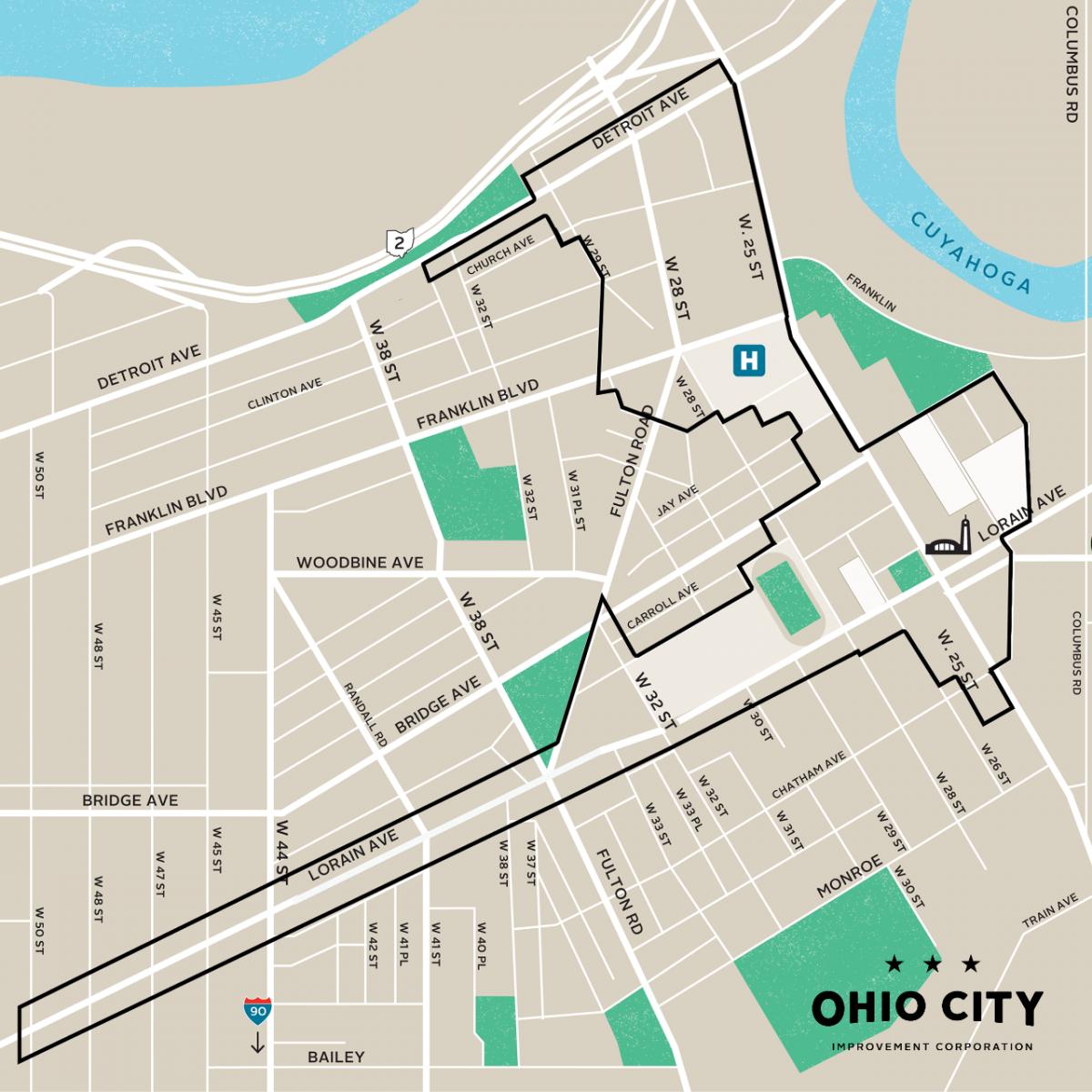 Ohio City Improvement Corporation Boundaries
